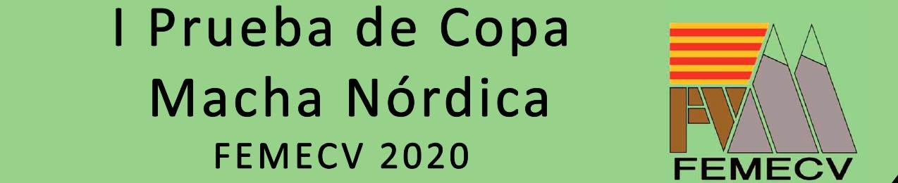 I prueba Copa Marcha Nórdica, Villena, FEMECV 2020
