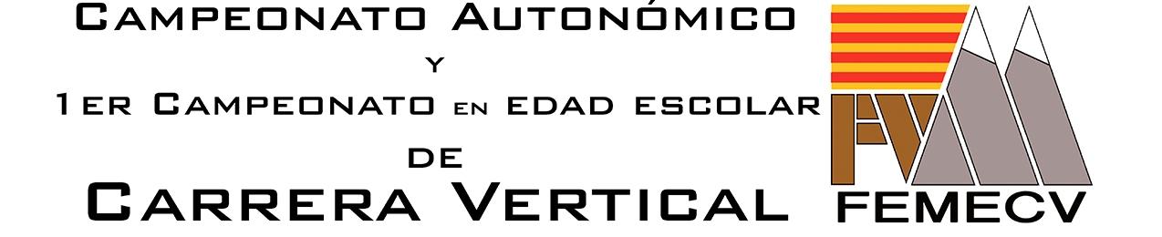¡¡¡PRUEBA APLAZADA!!!  Campionat Autonómic i 1er Campionat en Edad Escolar de Carrera Vertical, FEMECV 2020, TIbi