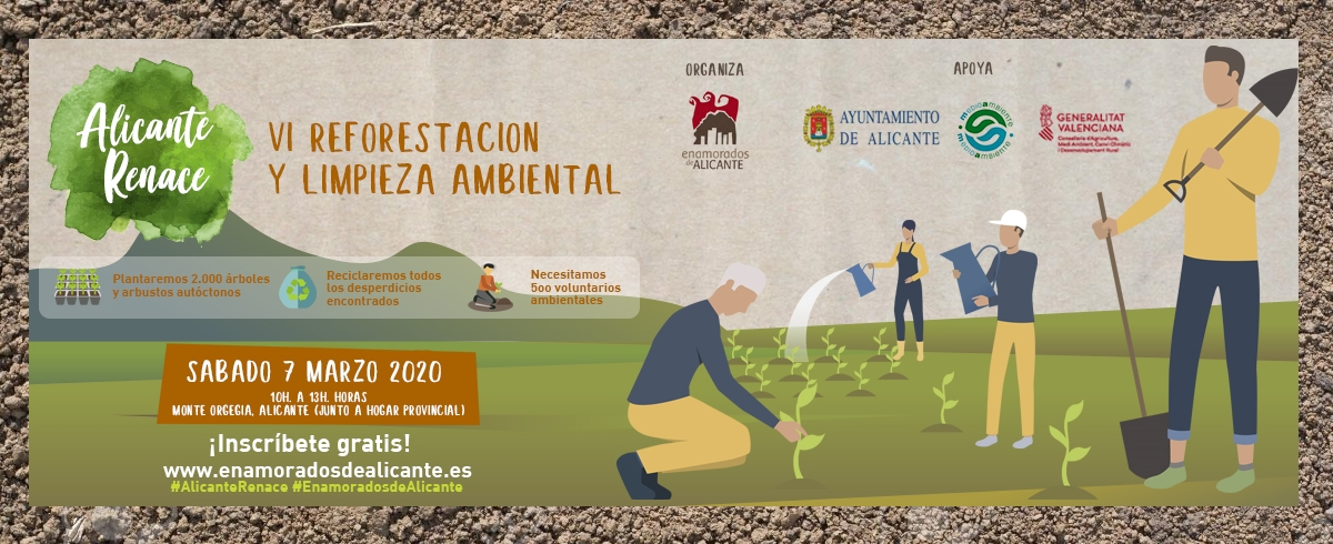 VI Reforestación y Limpieza Alicante Renace 2020
