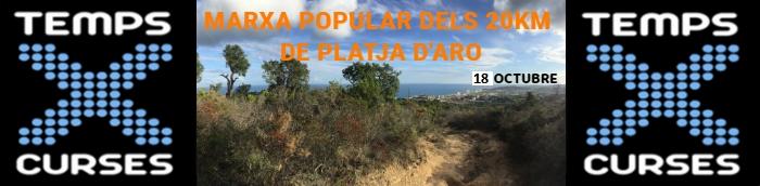 MARXA POPULAR DELS 20 KM DE PLATJA D