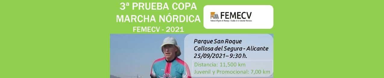 3ª Prueba Copa de Marcha Nórdica, FEMECV 2021, Callosa de Segura