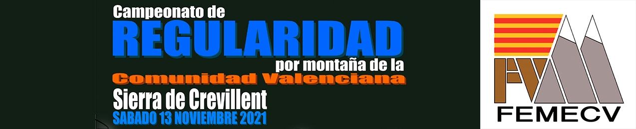 Campeonato Regularidad por Montaña de la Comunidad Valenciana, Sierra de Crevillent, FEMECV 2021