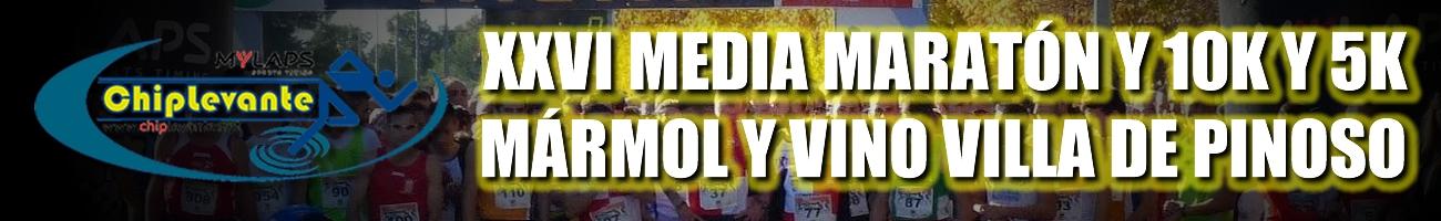 XXVI MEDIA MARATÓN, 10K Y 5K VILLA DE PINOSO