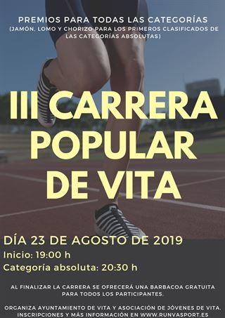 "III Carrera Popular Vita ""Avila"""