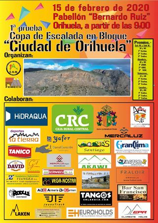 1ª PRUEBA COPA DE ESCALADA EN BLOQUE FEMECV, Ciudad De Orihuela