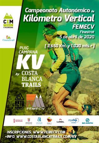 Campionat Autonòmic de Quilòmetre Vertical, Puig Campana, FEMECV 2020