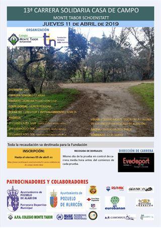 13º CARRERA SOLIDARIA CASA DE CAMPO-MONTE TABOR