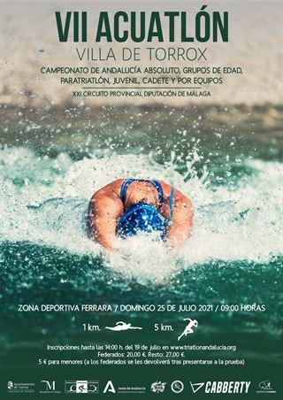 VII ACUATLÓN DE MENORES VILLA DE TORROX (Campeonato de Andalucía Juvenil y Cadete)
