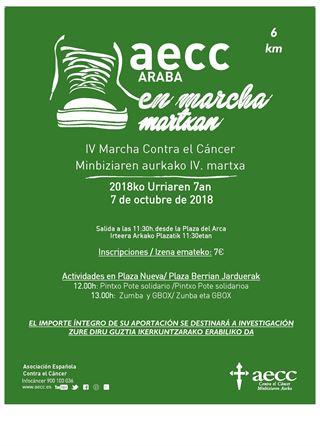 AECC EN MARCHA - IV Marcha Contra el Cáncer AECC MARTXAN - Minbiziaren aurkako IV. martxa