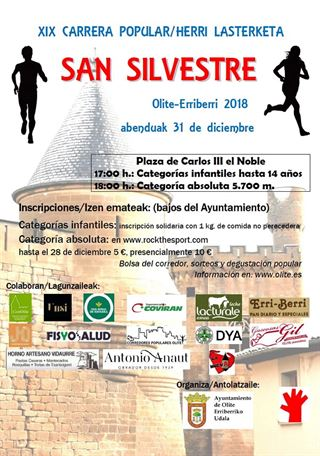 XIX Carrera popular / Herri lasterketa San Silvestre Olite Erriberri