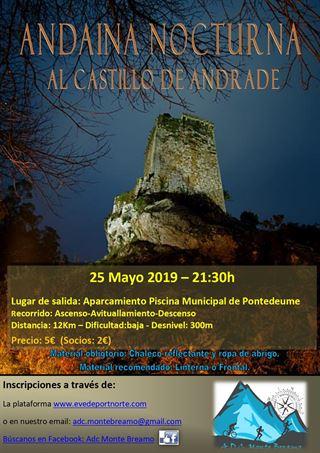 ANDAINA NOCTURNA AL CASTILLO DE ANDRADE
