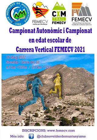 Campeonato Autonómico i Campionat Escolar de carrera Vertical, FEMECV 2021,  Novelda