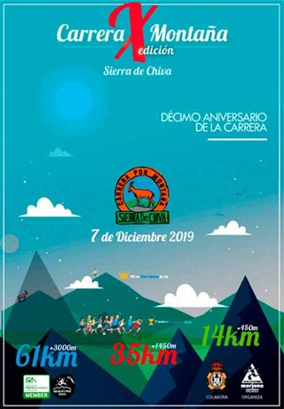 Carrera X Montaña Sierra de Chiva. Décima edición. 2019