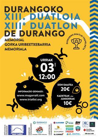 XIII Duatlon de Durango - Memorial Gorka Uribeetxebarria