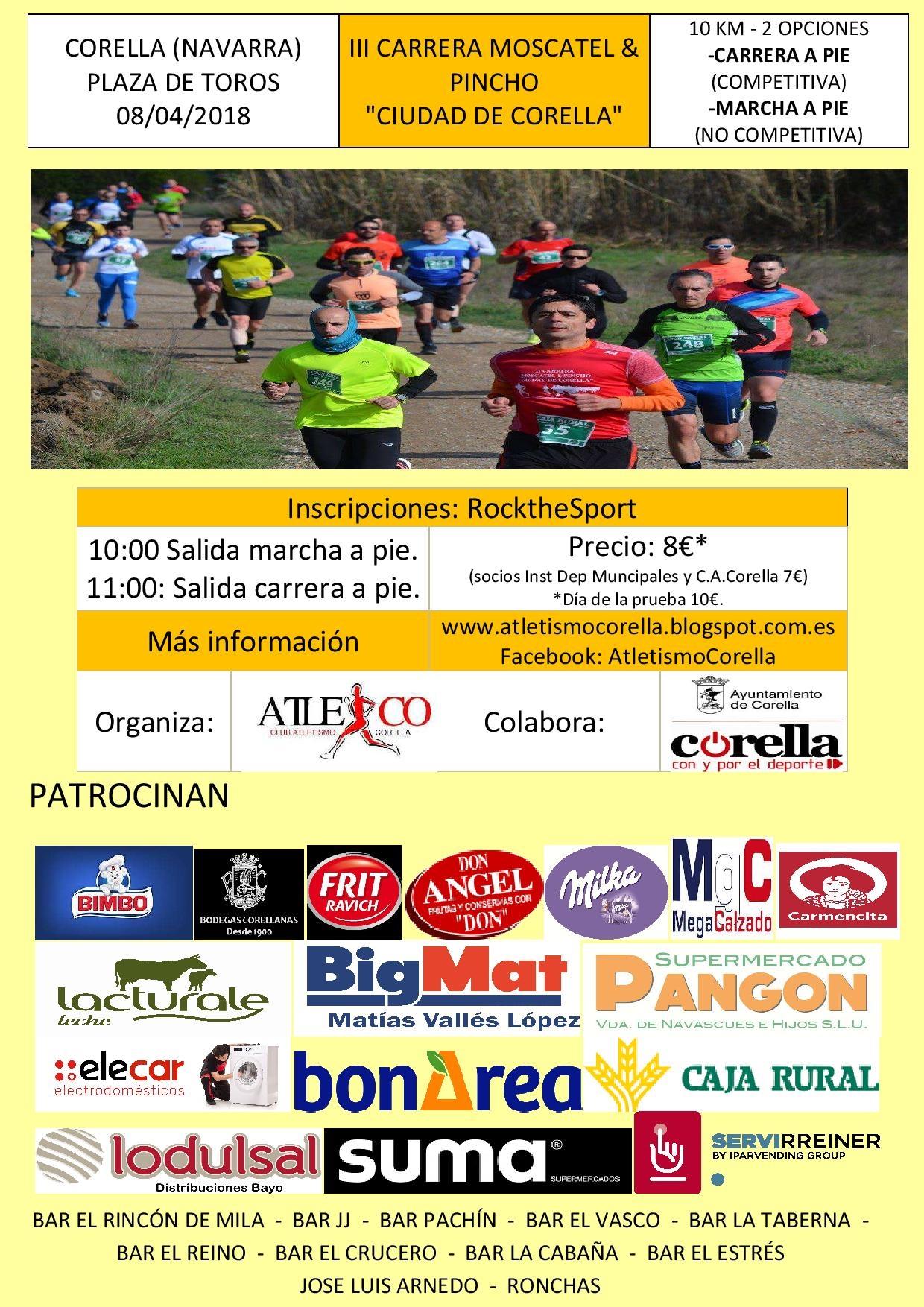 """III Carrera Moscatel & Pincho """"Ciudad de Corella"""""""