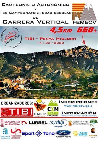 Campionat Autonómic i 1er Campionat en Edad Escolar de Carrera Vertical, FEMECV 2020, TIbi
