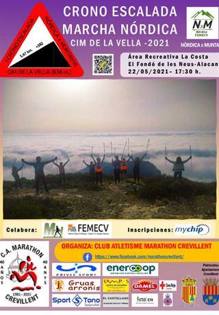 Crono Escalada Marcha Nórdica, cim de la Vella, FEMECV 2021