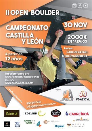 Campeonato de Castilla y León de Boulder Absoluto y Sub 18