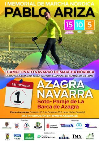 I.MEMORIAL DE MARCHA NORDICA PABLO ARIZA y I.CAMPEONATO NAVARRO DE MARCHA NORDICA. PUNTUABLE PARA EL RANKING FEDME