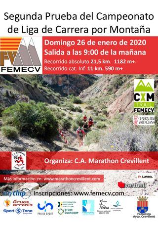Segunda prueba del Campeonato de Liga de Carrera por Montaña, Crevillent, Femecv 2020