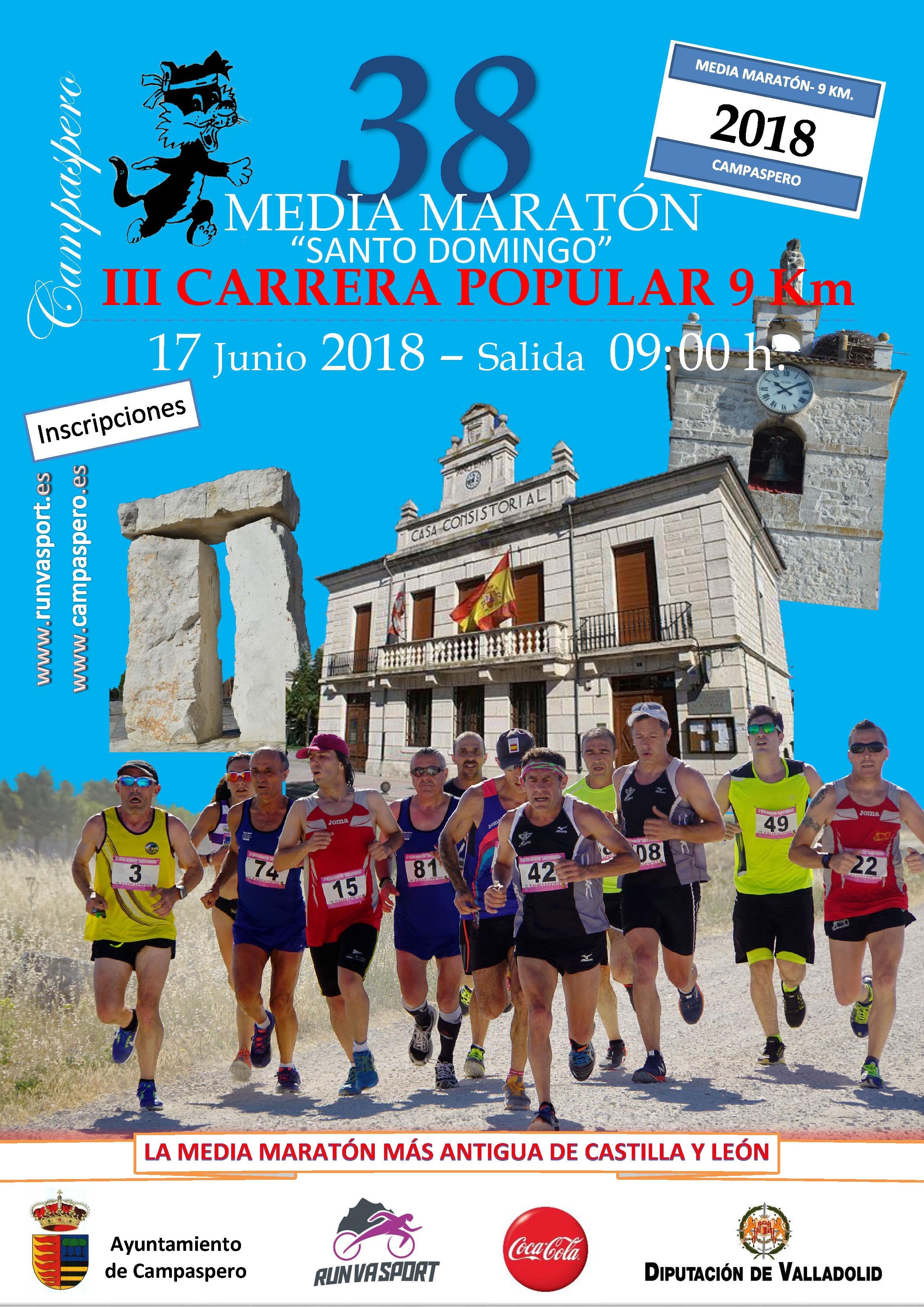 "38ª Media Maratón ""Santo Domingo "" Y 3ª Carrera Popular de 9 Km"