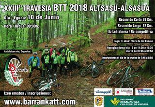 XXIII Travesia BTT Alsasua/Altsasu 2018