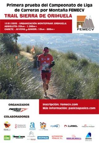 1a. prova Campionat de Lliga de Carrera por montaña, FEMECV 2020, Trail sierra de Orihuela