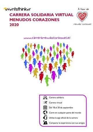 Carrera Solidaria Virtual Menudos Corazones - 2020