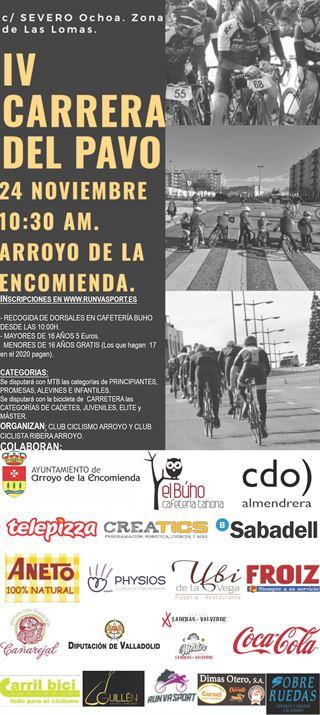 """IV Carrera Ciclista del Pavo """"Arroyo de la Encomienda"""""""