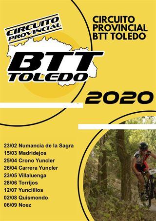INSCRIPCION CIRCUITO PROVINCIAL BTT TOLEDO 2020