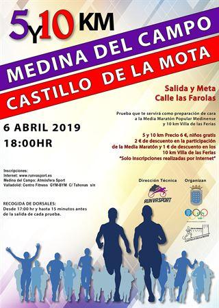 5 y 10 km Medina del Campo Castillo de la Mota