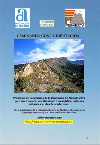 Caminando con la Diputación de Alicante, FEMECV 2019