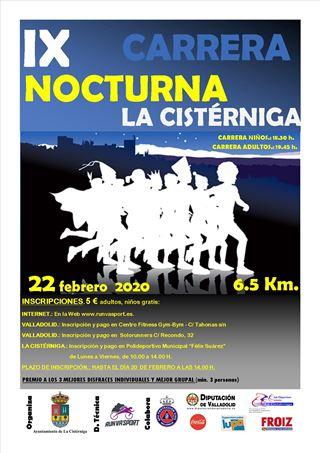 """9ª Carrera Popular Nocturna """"La Cistérniga"""""""