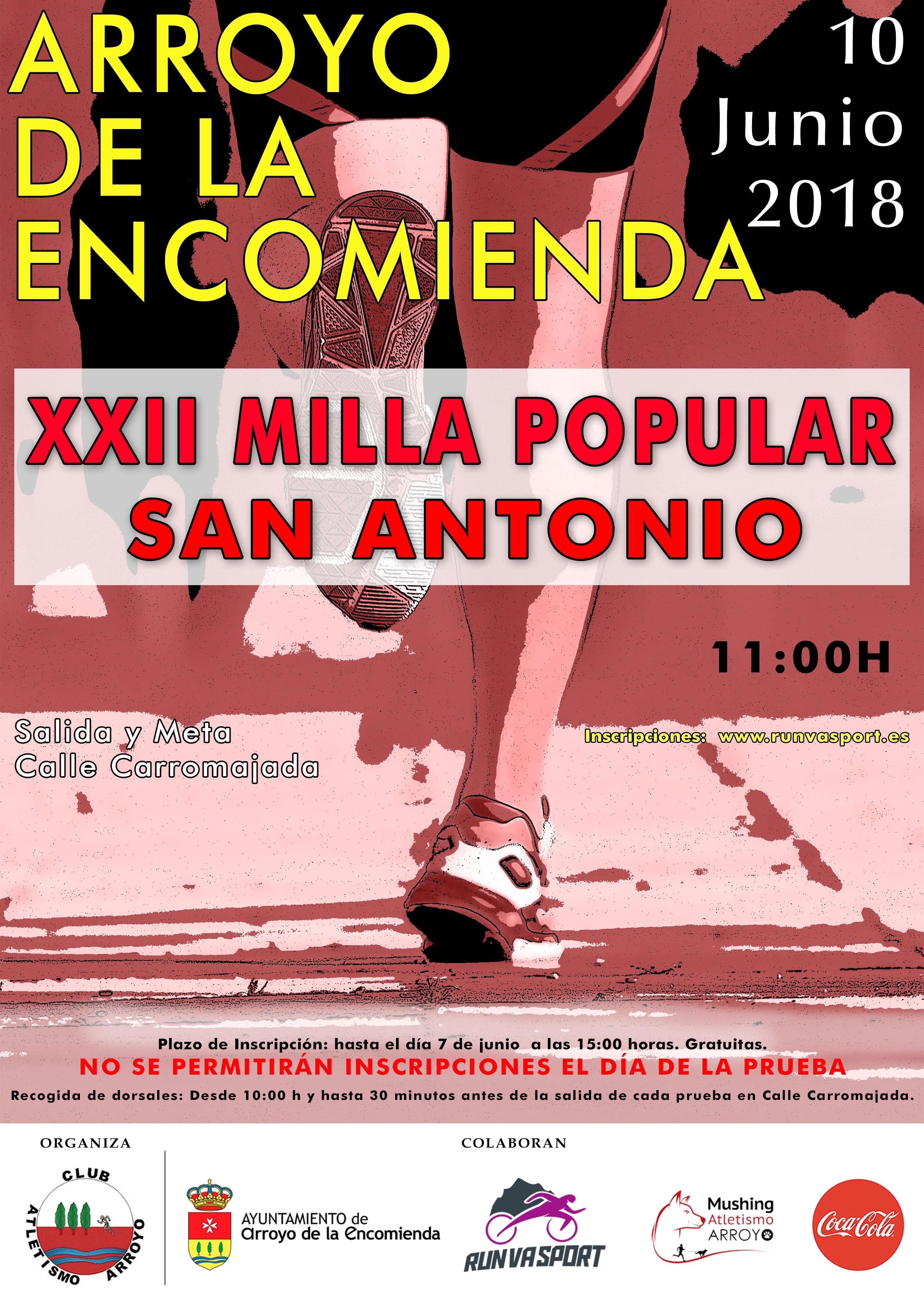 XXII Milla Popular San Antonio - Arroyo De La Encomienda