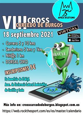 VIII CROSS CARCEDO DE BURGOS 2021 virtual a favor de la ELA