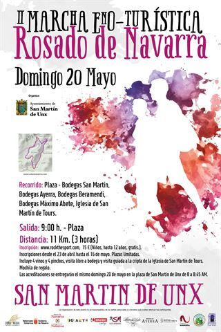 II MARCHA ENOTURÍSTICA DEL ROSADO DE NAVARRA SAN MARTIN DE UNX-2