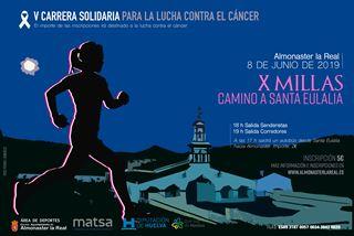 V CARRERA SOLIDARIA ALMONASTER CONTRA EL CANCER X MILLAS CAMINO DE SANTA EULALIA