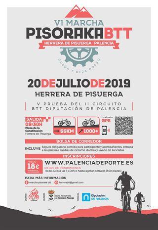 Cartel BTT Pisoraca 2019 Herrera de Pisuerga