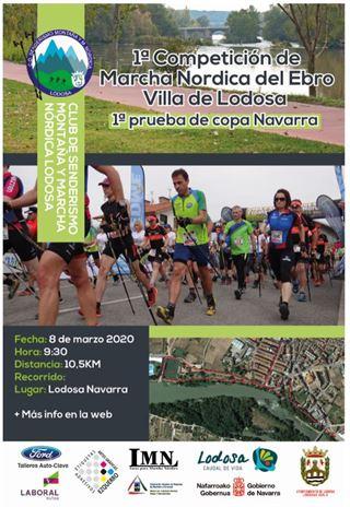 I. Competicion de Marcha Nordica del Ebro -Villa de Lodosa -