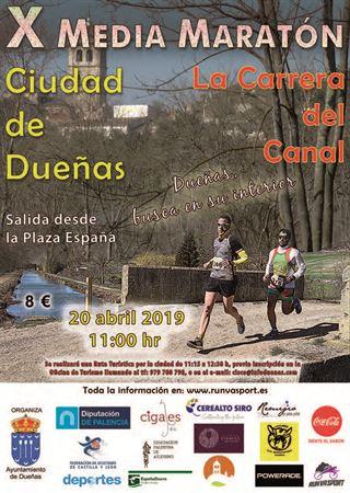 "X MEDIA MARATÓN DE DUEÑAS ""LA CARRERA DEL CANAL"""