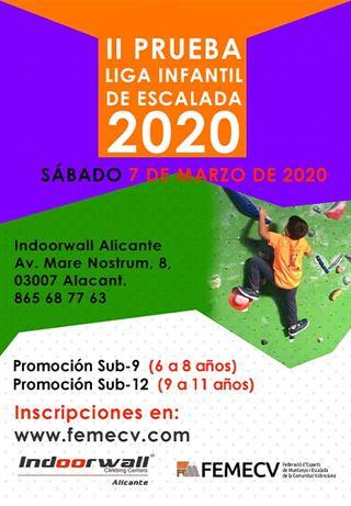 2ª Prueba Liga Infantil de Escalada FEMECV 2020, Alicante