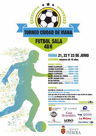 """48 horas fútbol sala """"Ciudad de Viana"""" SUSPENDIDO"""