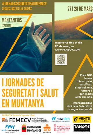 I Jornada de Seguridad y Salud en Montaña, Montanejos, FEMECV 2020