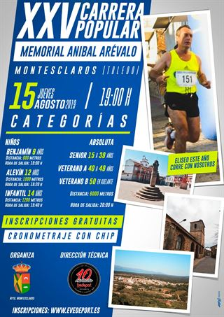 "XXV CARRERA POPULAR MONTESCLAROS""Memorial Anibal Arévalo"""