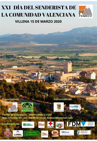 XXI día del Senderista de la Comunidad Valenciana, FEMECV 2020